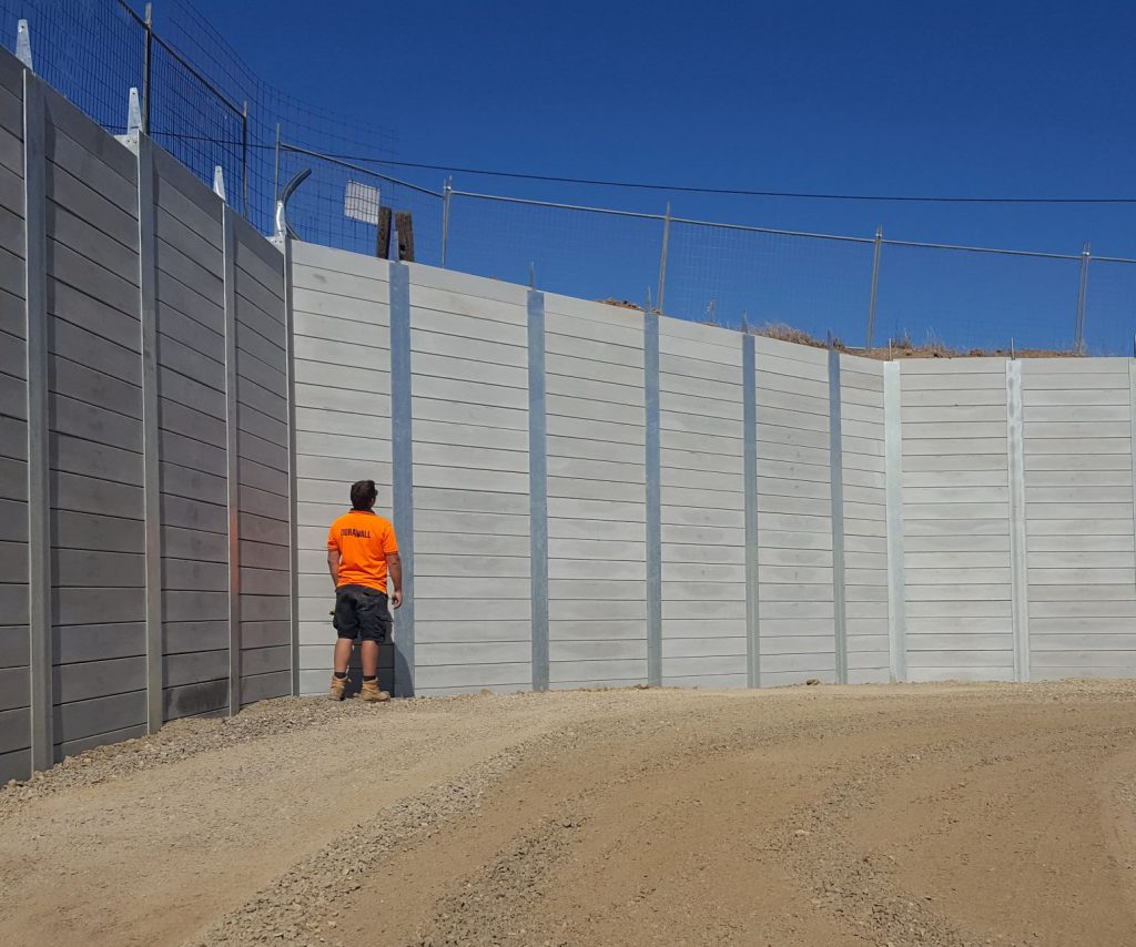 Installation Of Concrete Sleeper Retaining Wall System Durawall