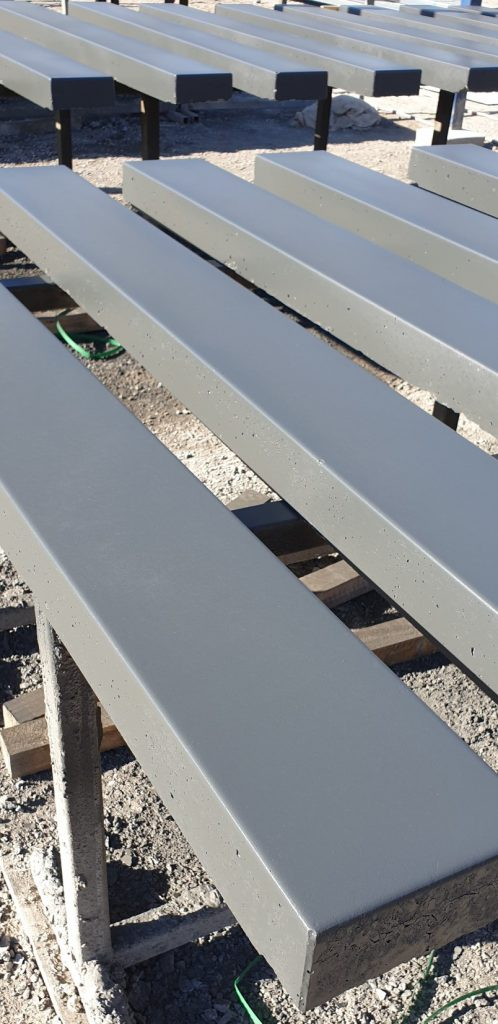 Durawall concrete sleepers smooth design sealed in monument