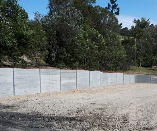 Durawall residential concrete sleeper retaining wall project