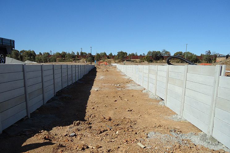 Durawall retaining wall Caboolture subdivision