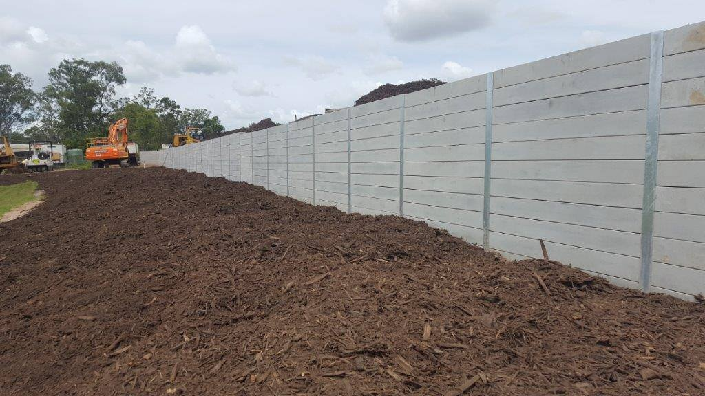 Durawall retaining wall commercial project in Caboolture