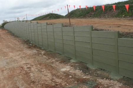 Durawall retaining wall in Narangba sub-division