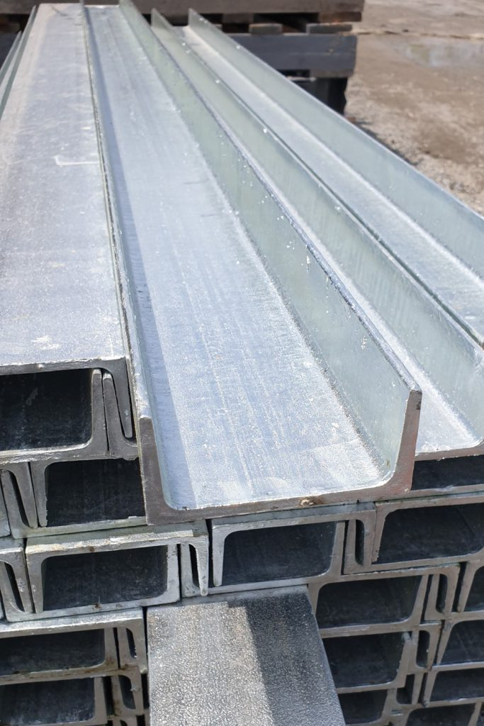 Retaining wall steel c channel posts profile