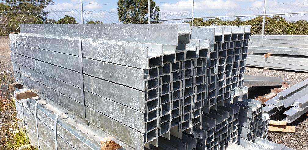 Retaining wall steel H posts