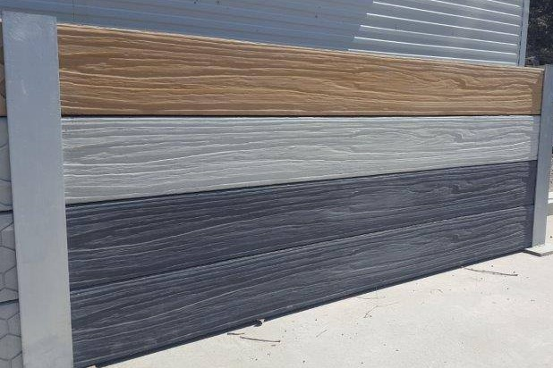 Durawall driftwood concrete sleepers colour display