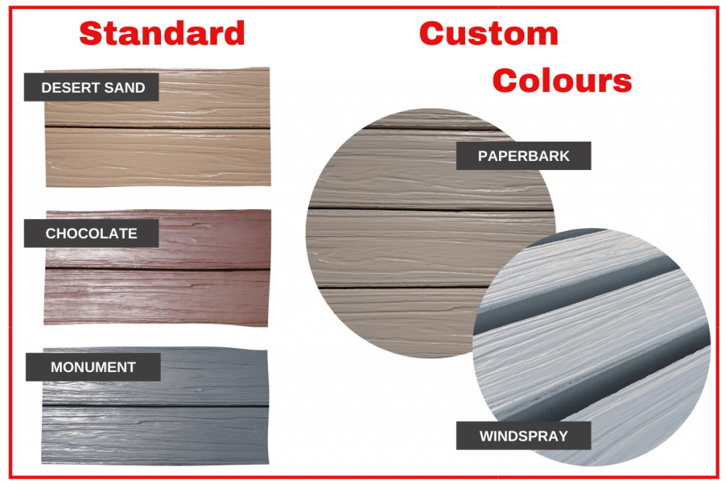 Durawall concrete sleepers colour range