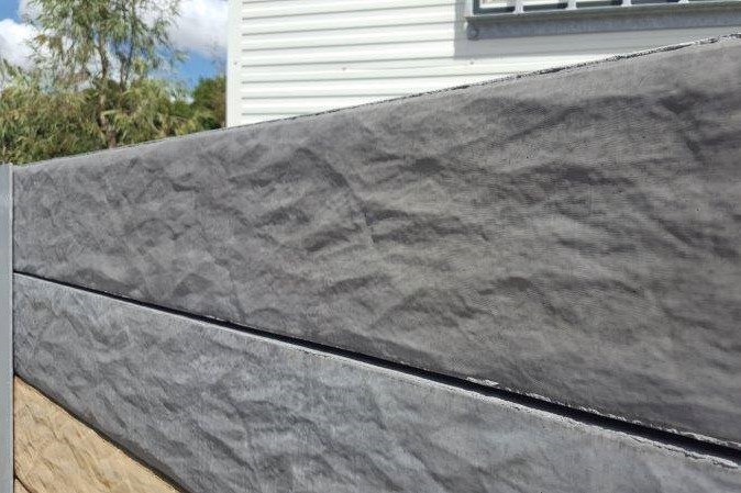 Durawall concrete sleepers granite stone display