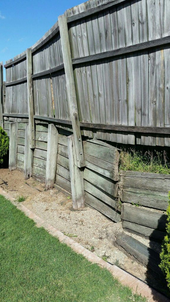 Durawall retaining wall replacement before photo