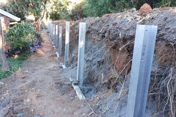 Durawall retaining wall replacement at Manly