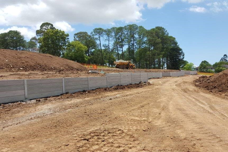 Durawall retaining wall for South East Civil in Bridgeman Downs