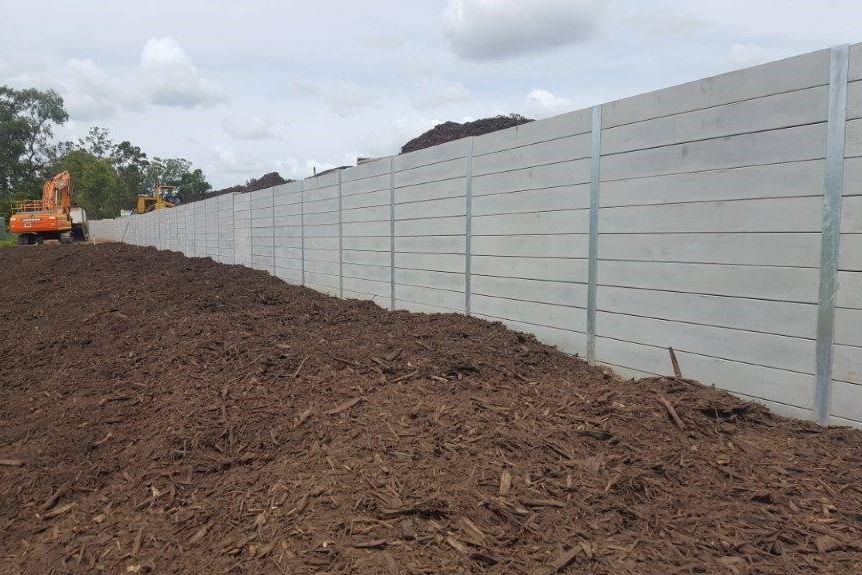Durawall concrete sleeper retaining wall subdivision in Caboolture