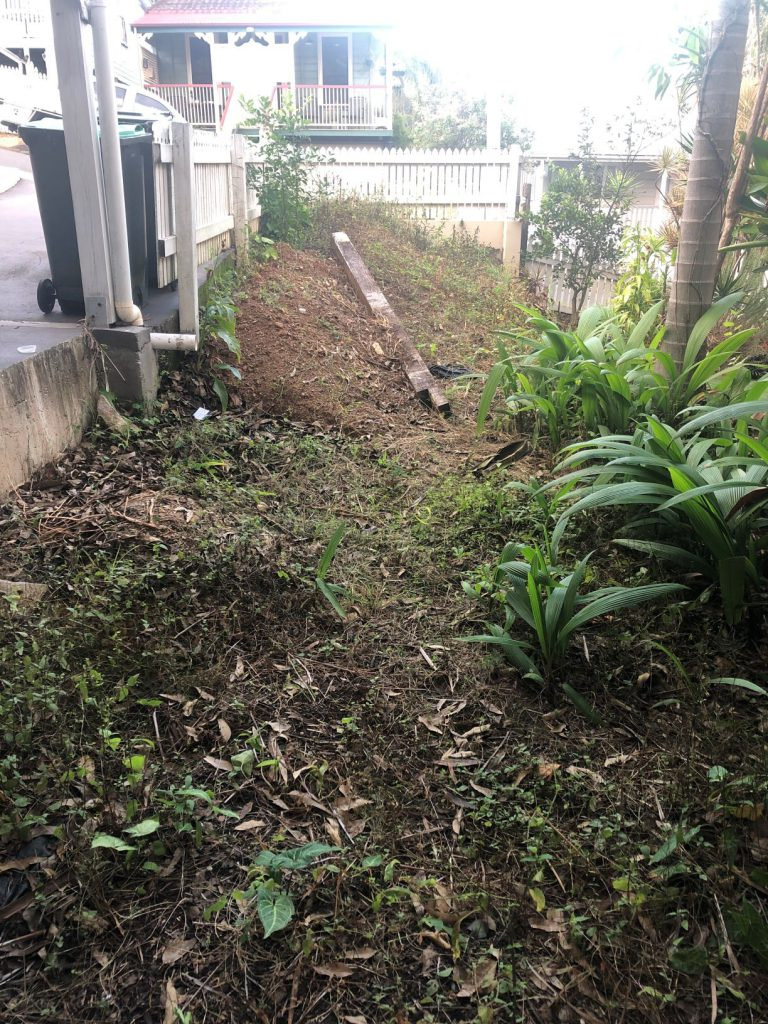 Durawall retaining wall in Red Hill with tight access after photo