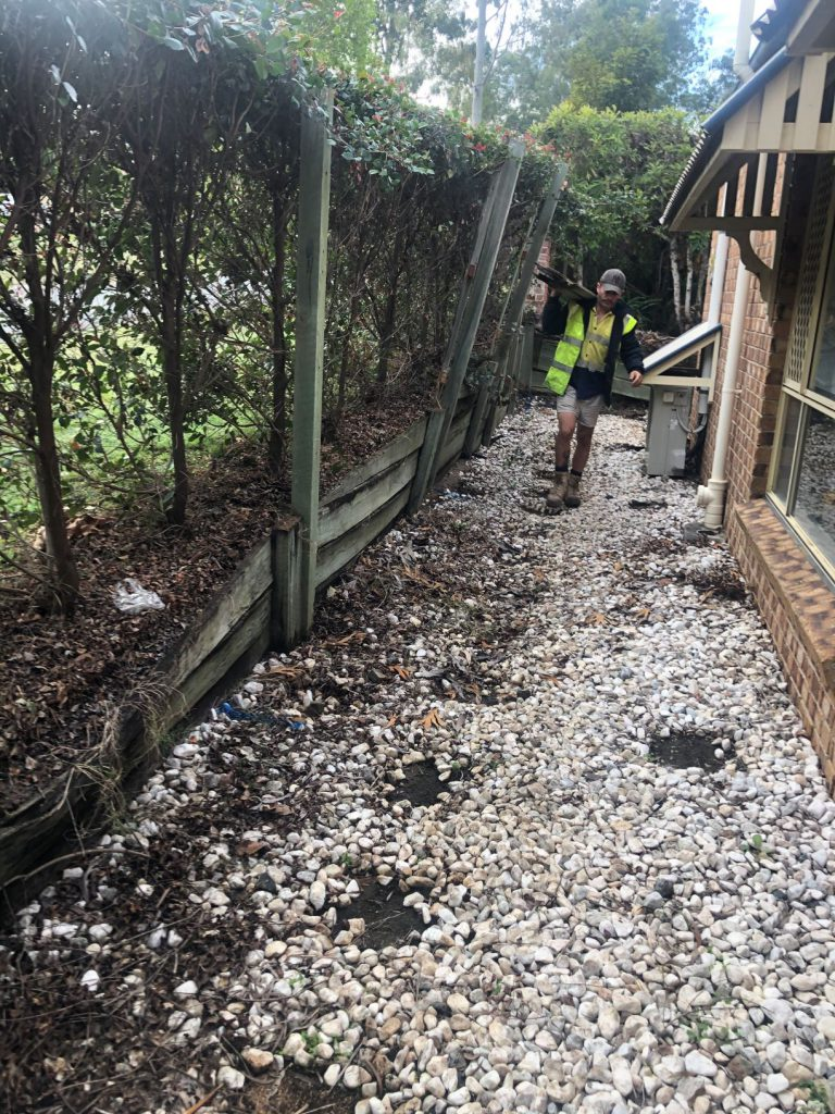 Durawall retaining wall replacement in Forest Lake before photo