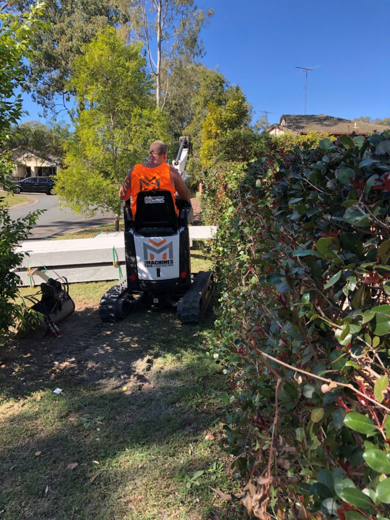 Durawall retaining wall replacement in Forest Lake bobcat