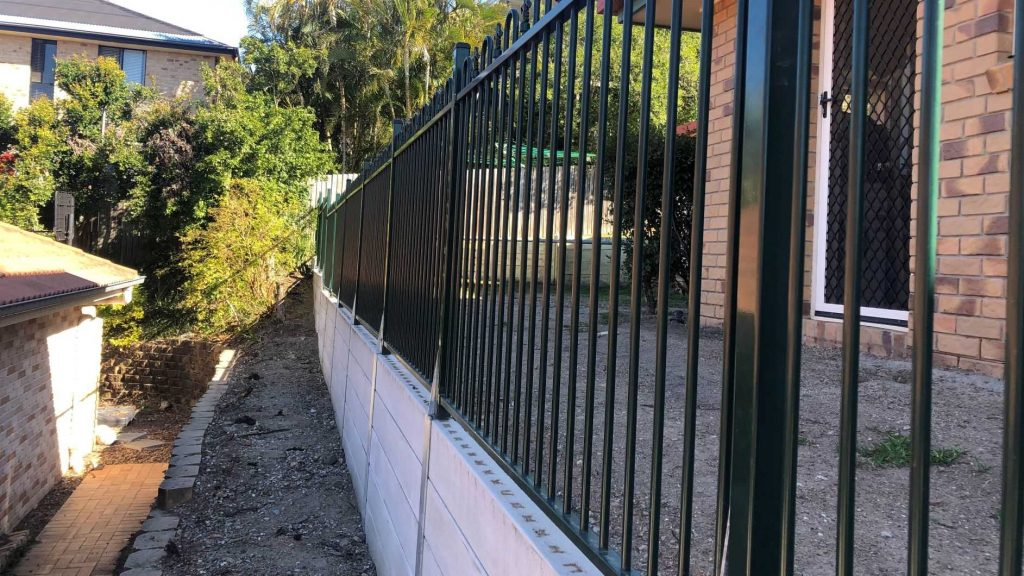 Durawall retaining wall replacement in Albany Creek after photo