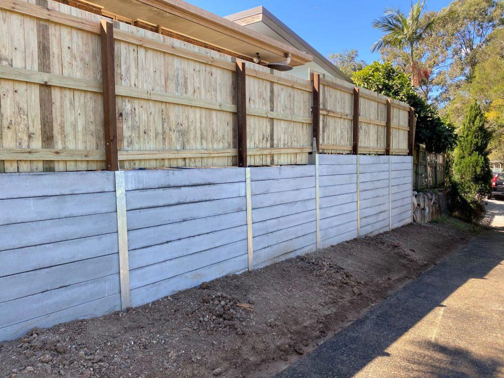 Durawall retaining wall replacement at Arana Hills after photo