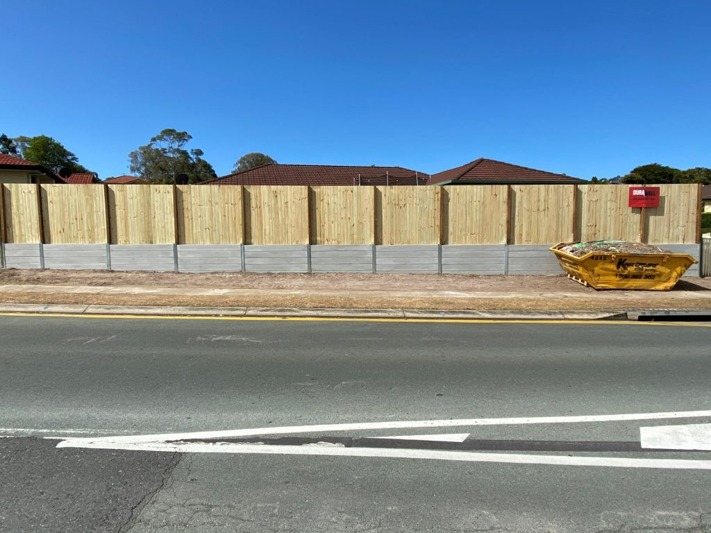 Durawall retaining wall at Bracken Ridge after photo