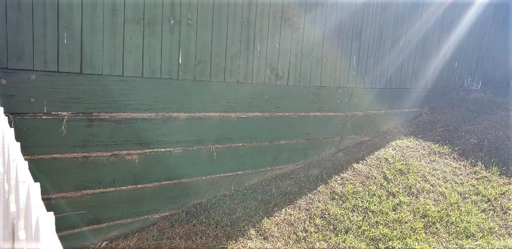 Durawall retaining wall at Bracken Ridge before photo