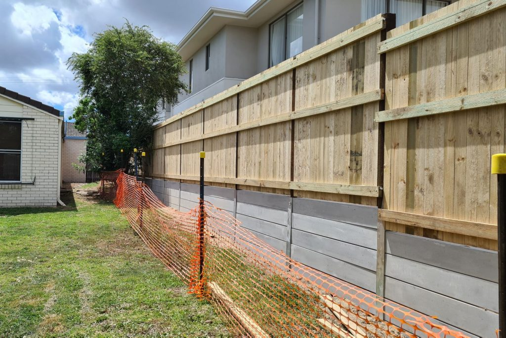 Durawall retaining wall replaced in Norman Park after photo