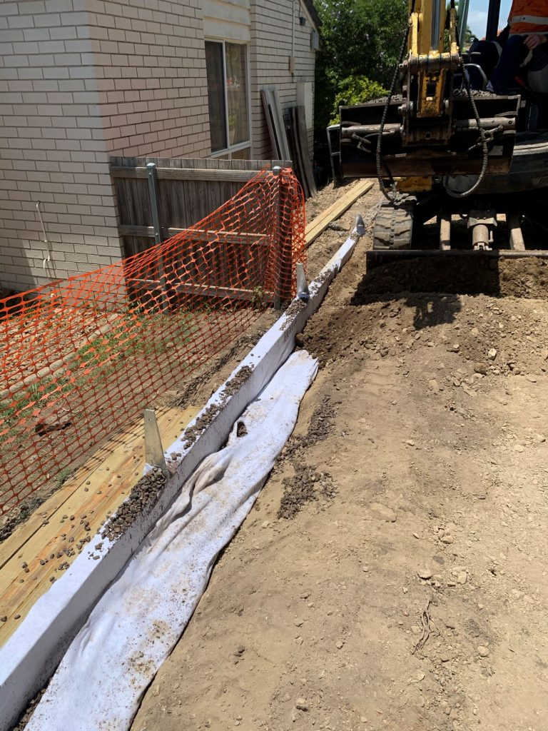 Durawall retaining wall replaced in Norman Park tight access