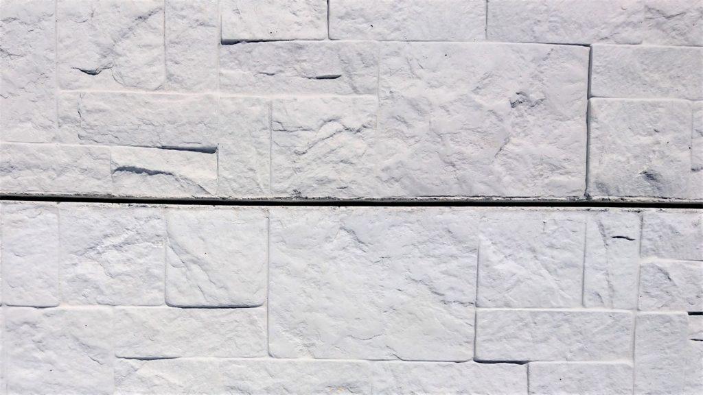 Concrete sleepers in hampton stone design
