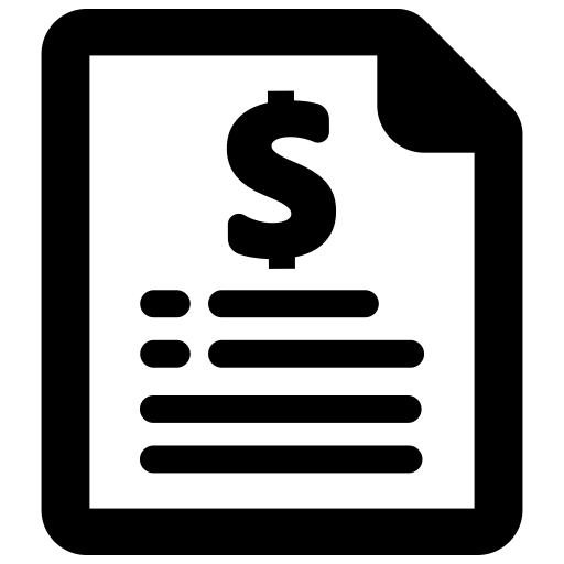 Icon of a price list