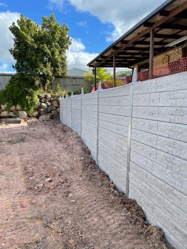 Durawall retaining wall replacement in Hemmant hampton stone design