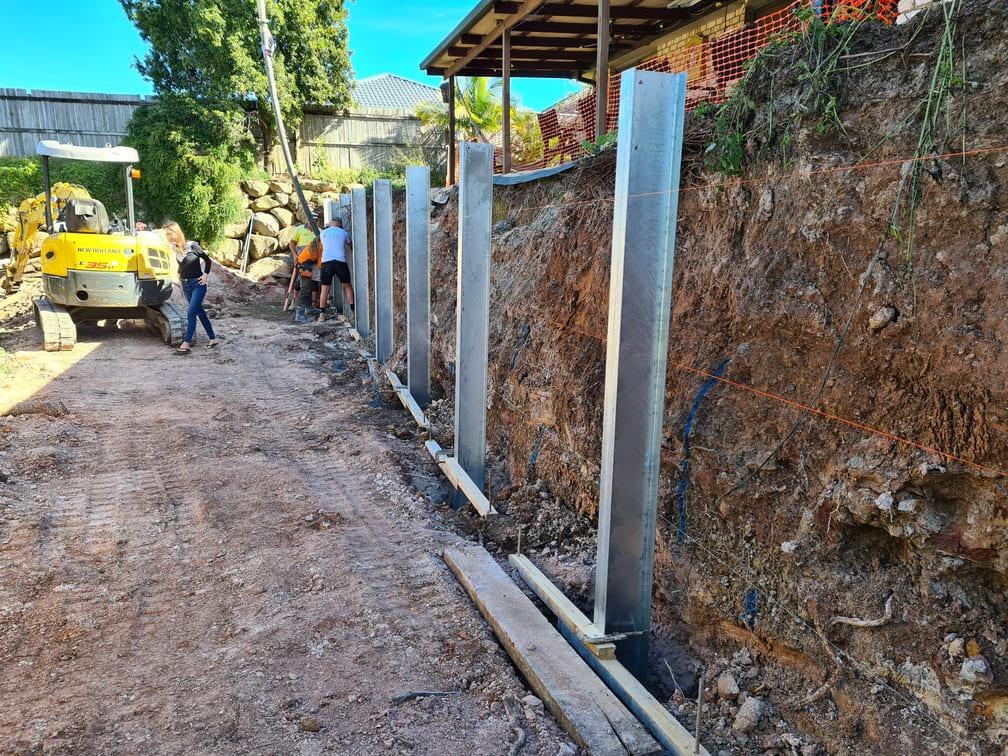 Durawall retaining wall replacement in Hemmant hampton stone design construction photo