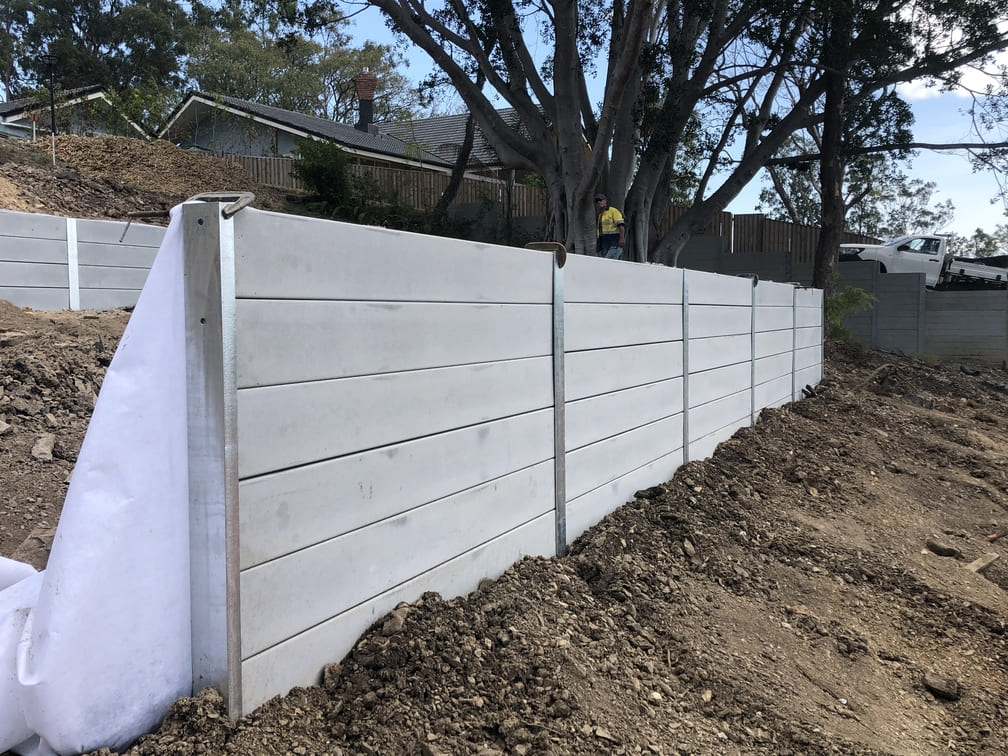 Durawall retaining wall tiered in Kenmore