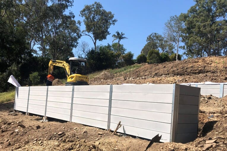 Durawall retaining wall tiered in Kenmore featured image