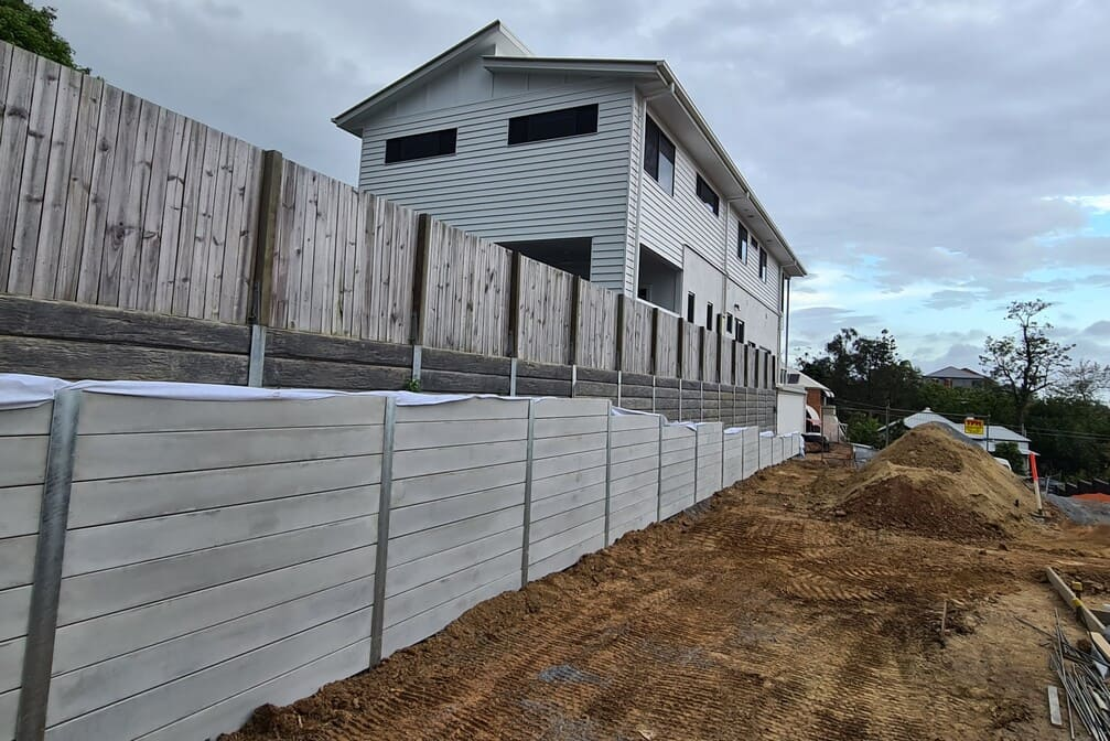 Durawall retaining wall in Highgate Hill after photo